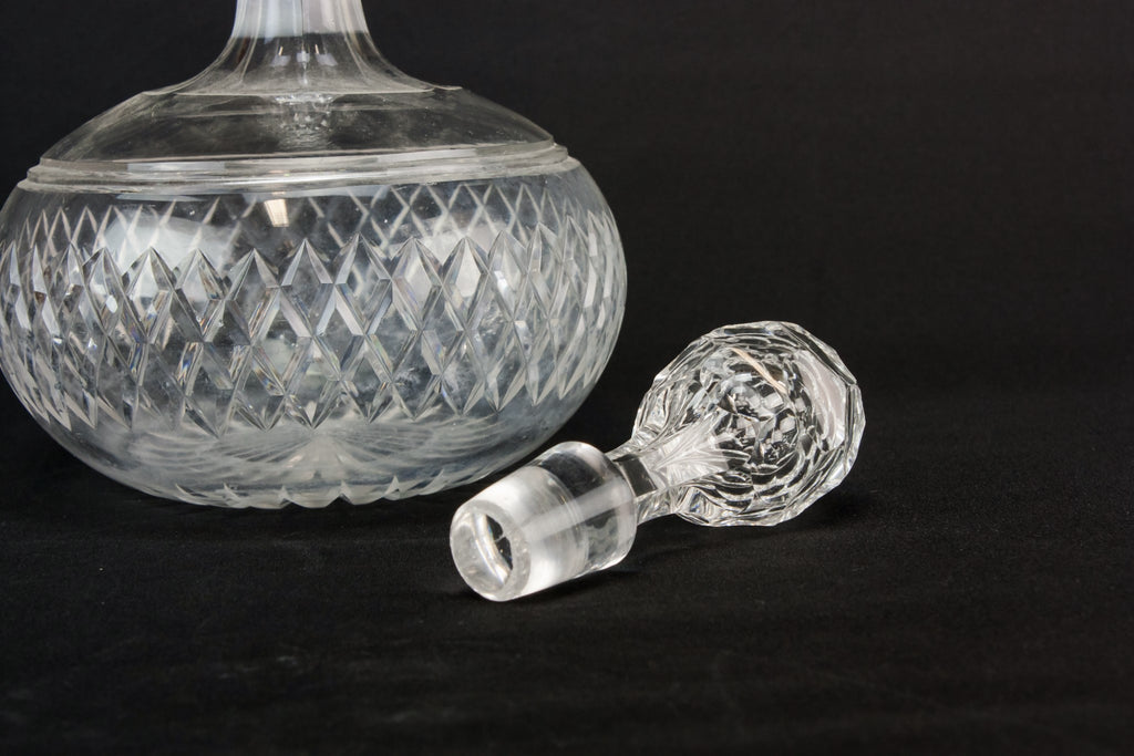 Cut glass wine decanter