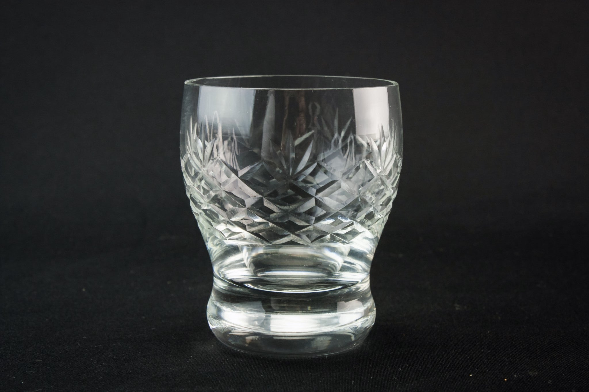 6 crystal whisky glasses