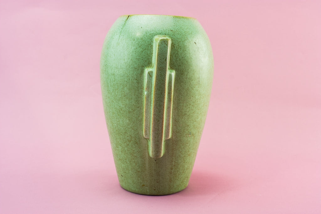 Green Art Deco vase