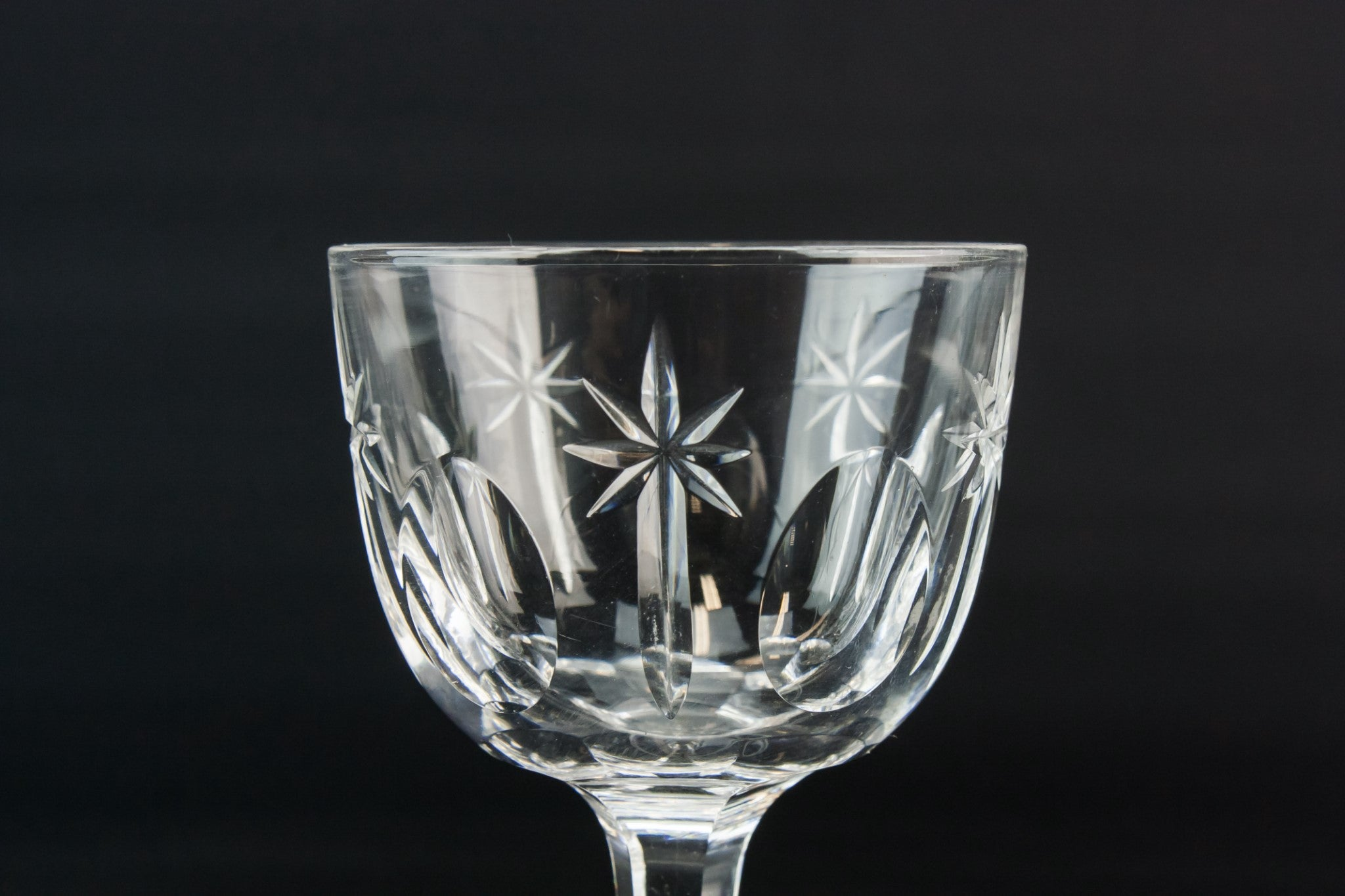 8 crystal port glasses
