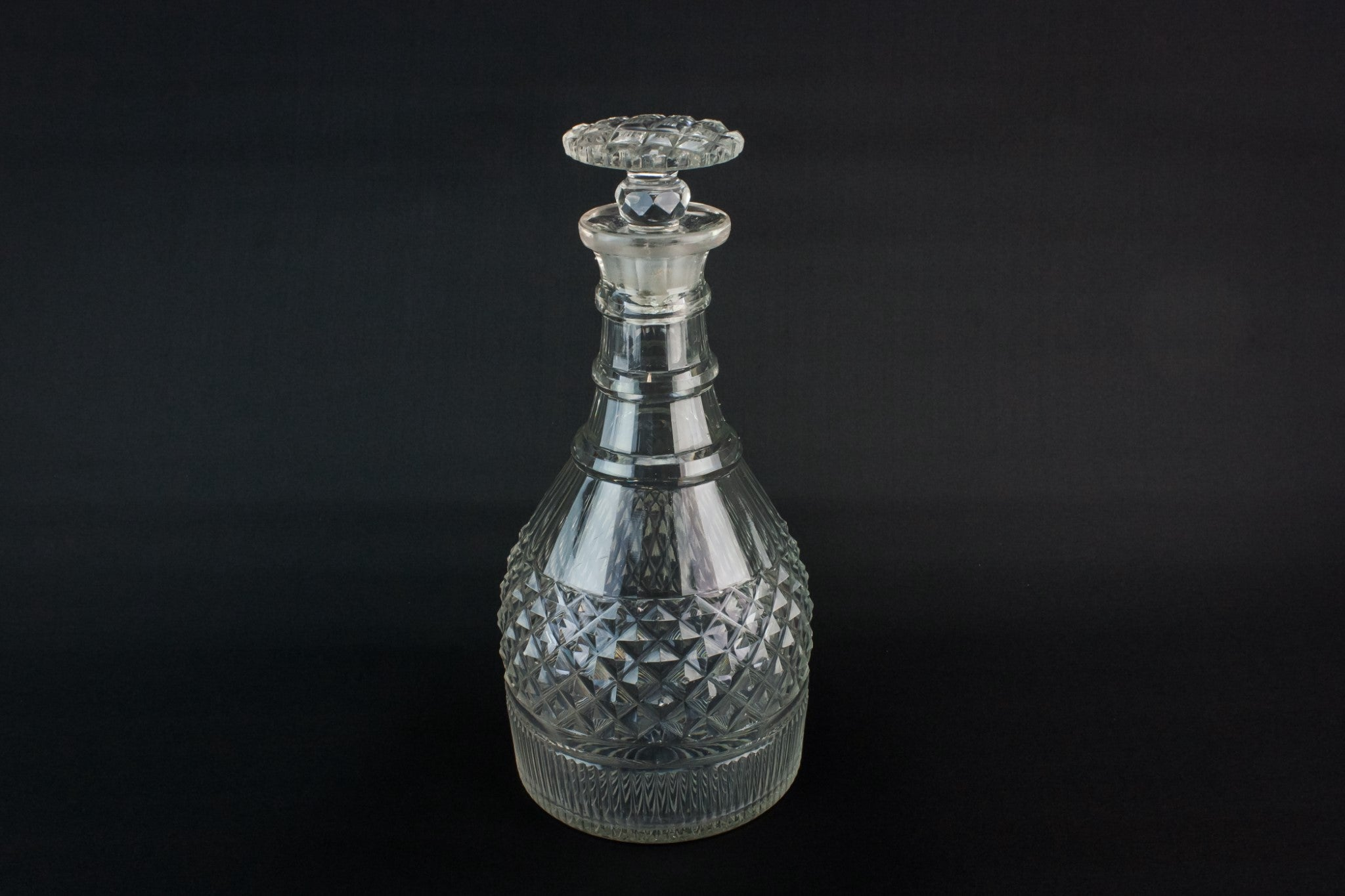 Georgian cut glass decanter