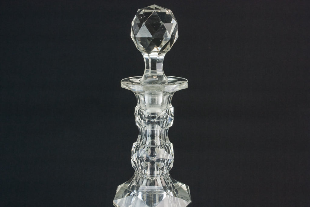 Cut glass heavy decanter