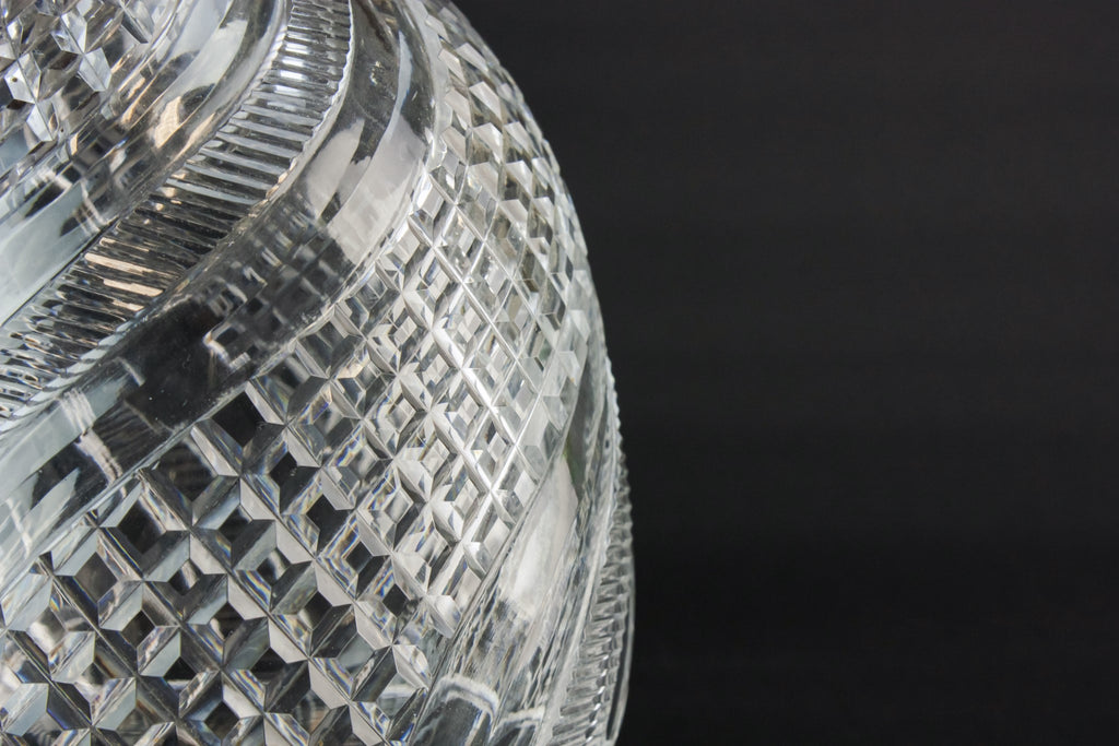 Cut glass lamp shade