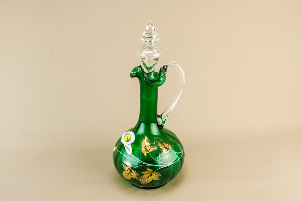Blown glass globular carafe
