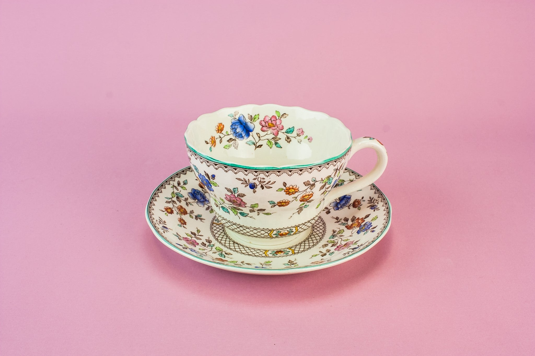 Large Copeland cup & saucer