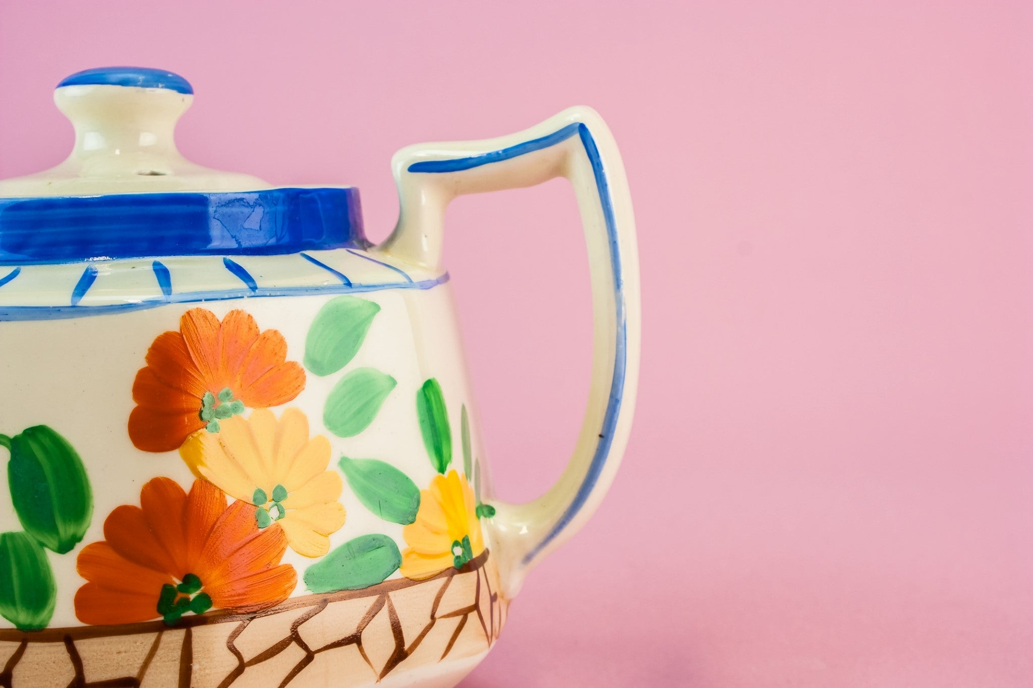 Art Deco colourful teapot