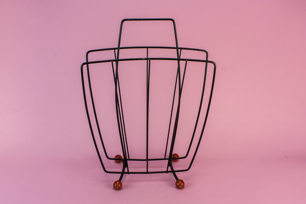 Black magazine rack