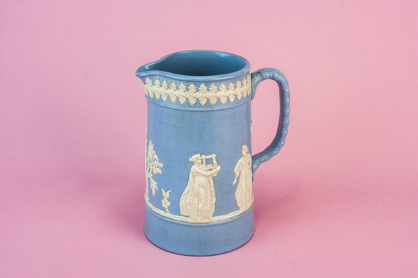 Blue pottery creamer