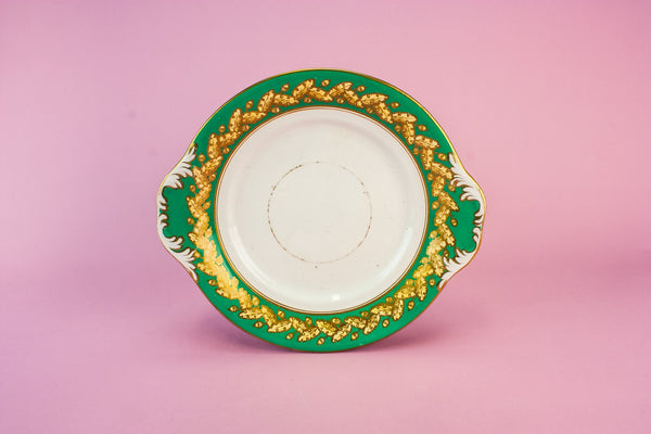 Victorian pottery cake plate