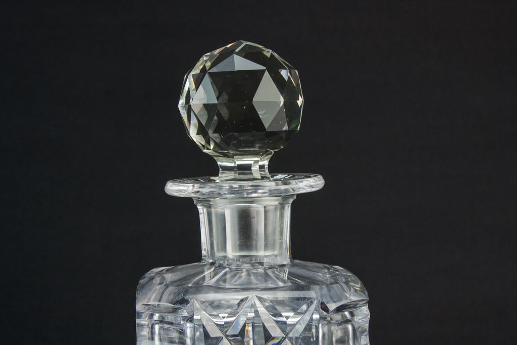 Cut glass square decanter