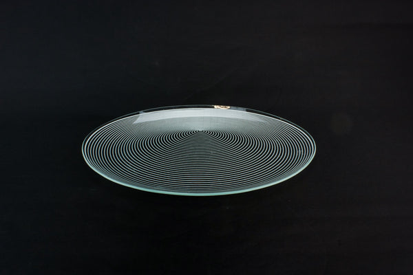 Modernist glass tray