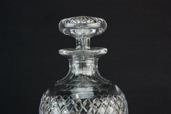 Cut glass baluster decanter