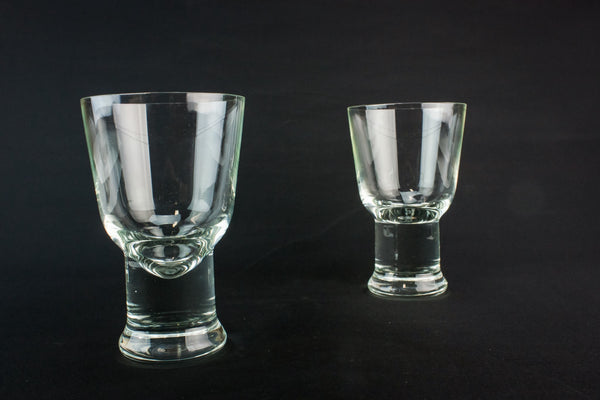 2 large whisky glasses