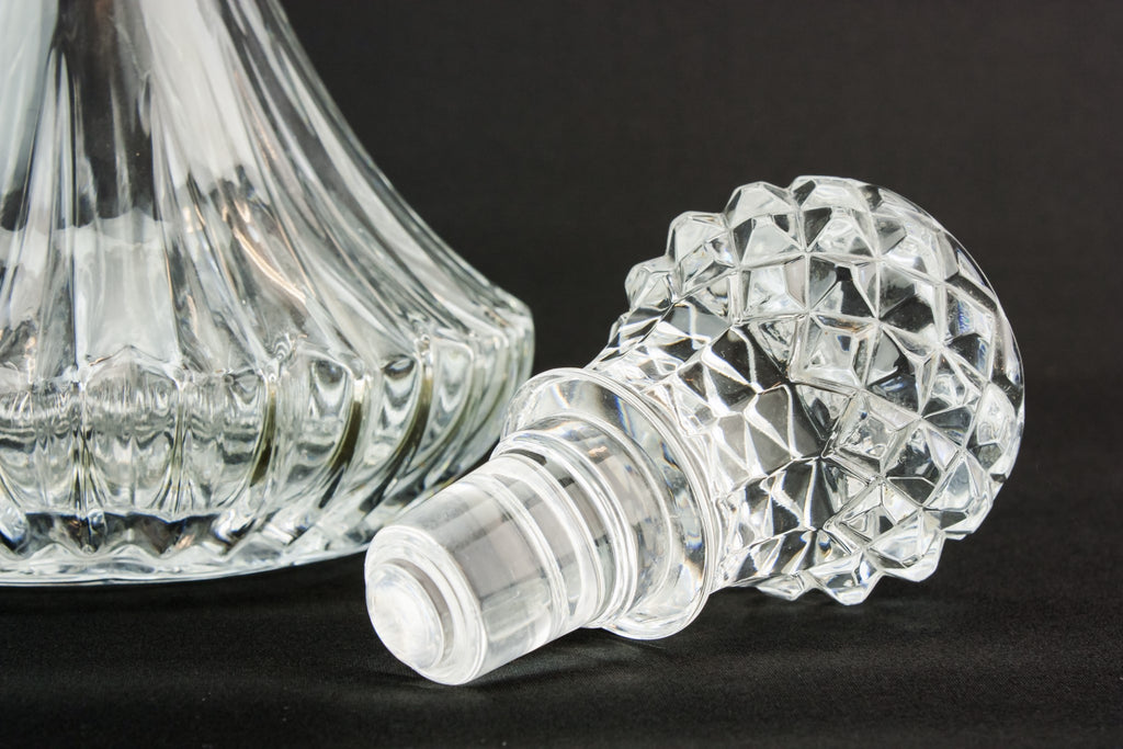 Moulded glass sherry decanter