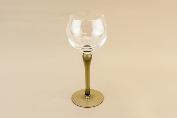 6 smoky grey wine glasses
