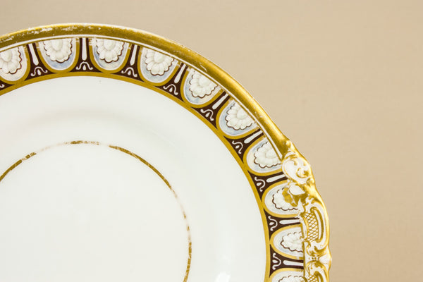 Gilded cake plate