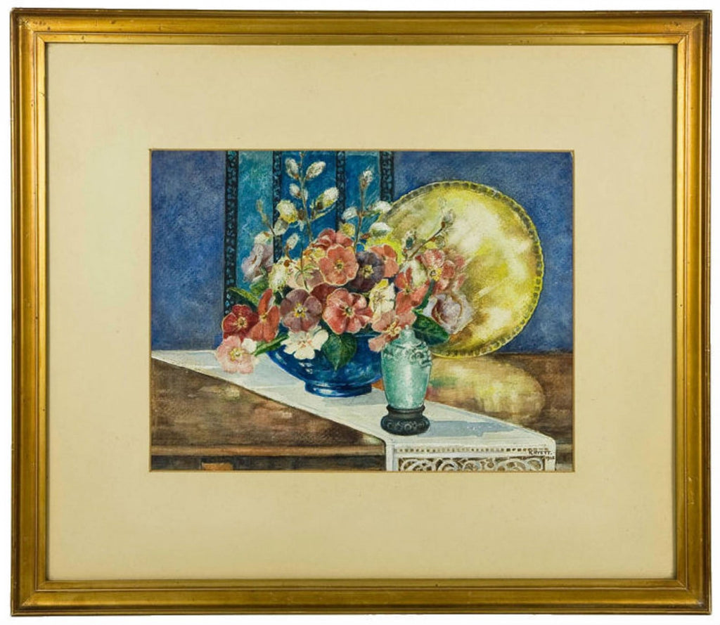 Art Deco still life painting