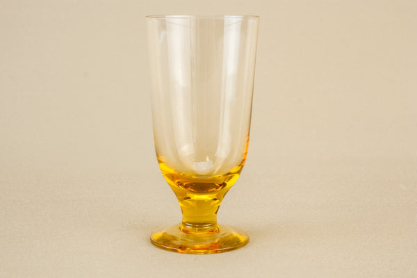 6 Wedgwood amber glasses