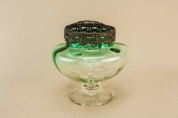Pale green glass vase