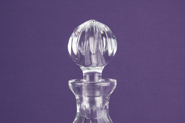 Ovoid cut glass decanter
