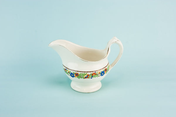 Art Deco pottery gravy boat