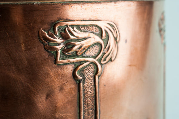 Arts & Crafts copper planter