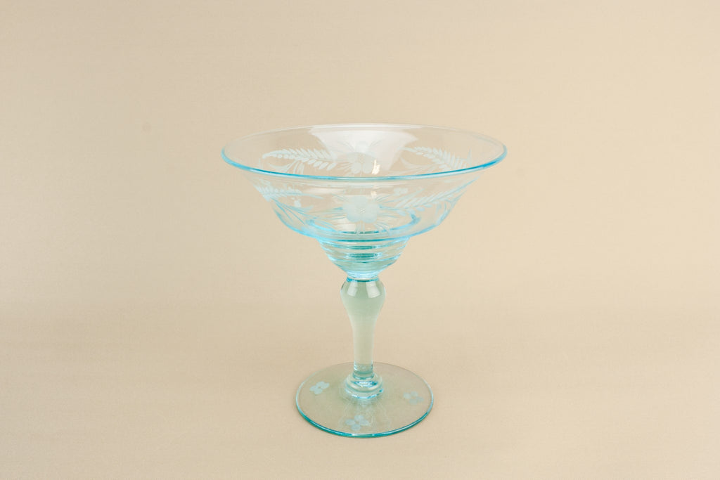 Retro blown glass serving bowl