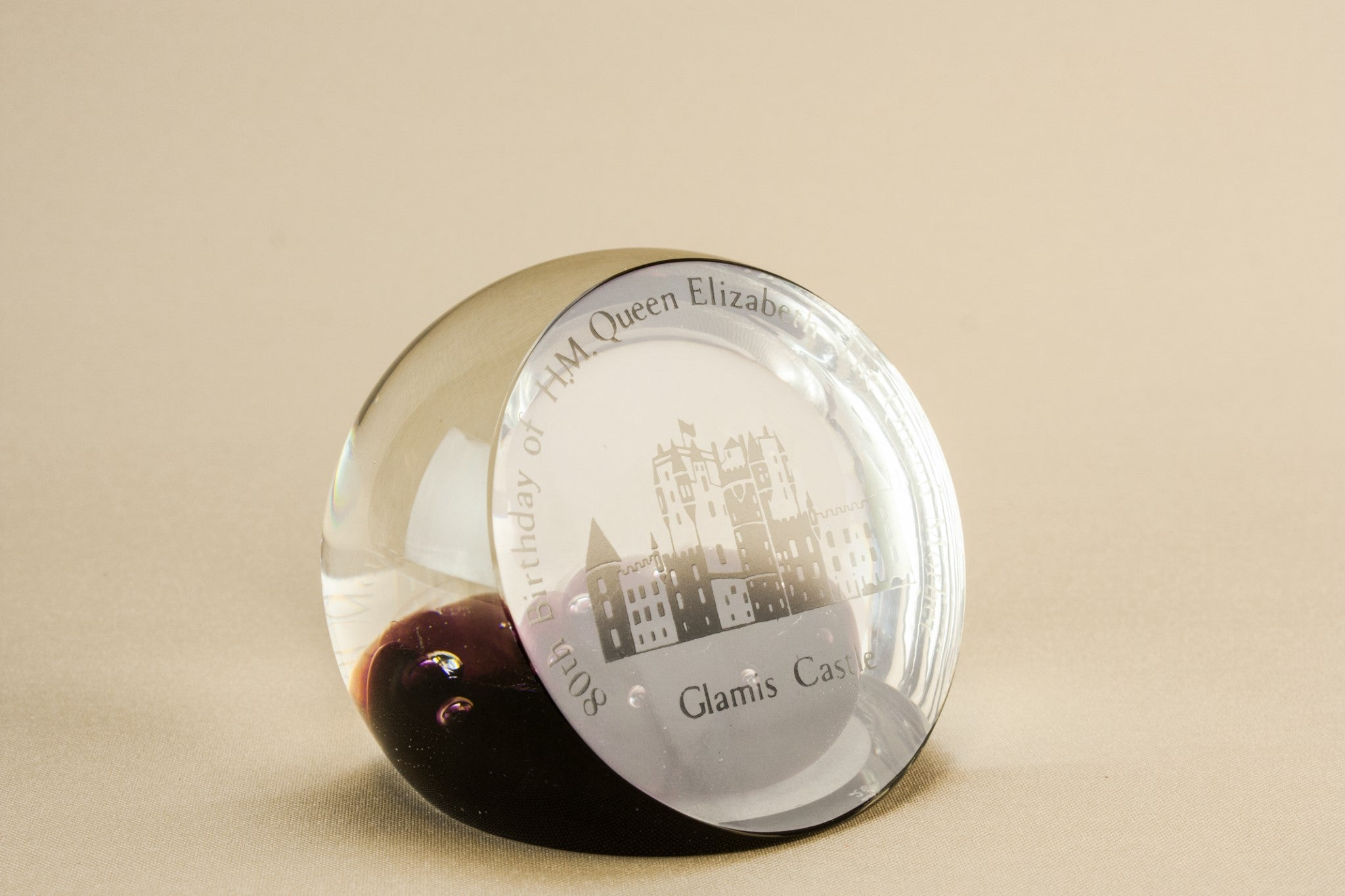 Caithness glass paperweight, Scottish 1980