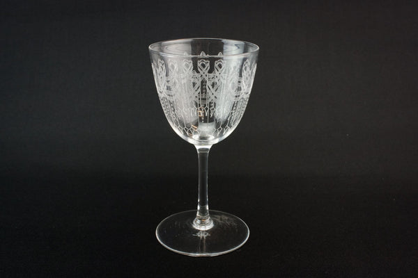 Engraved port glass