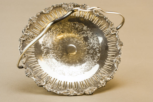 Silver plated fruit basket