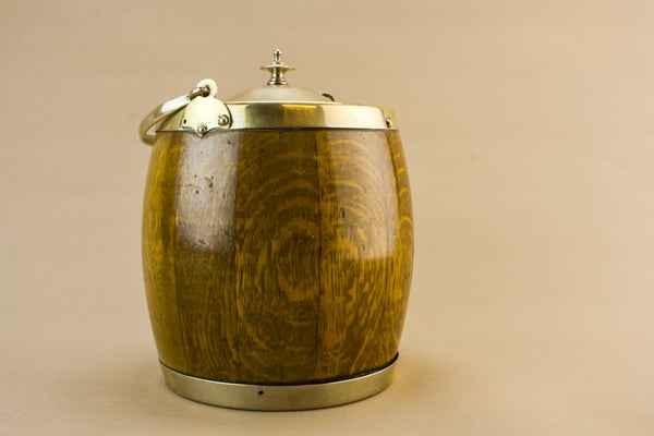 Traditional oak ice bucket