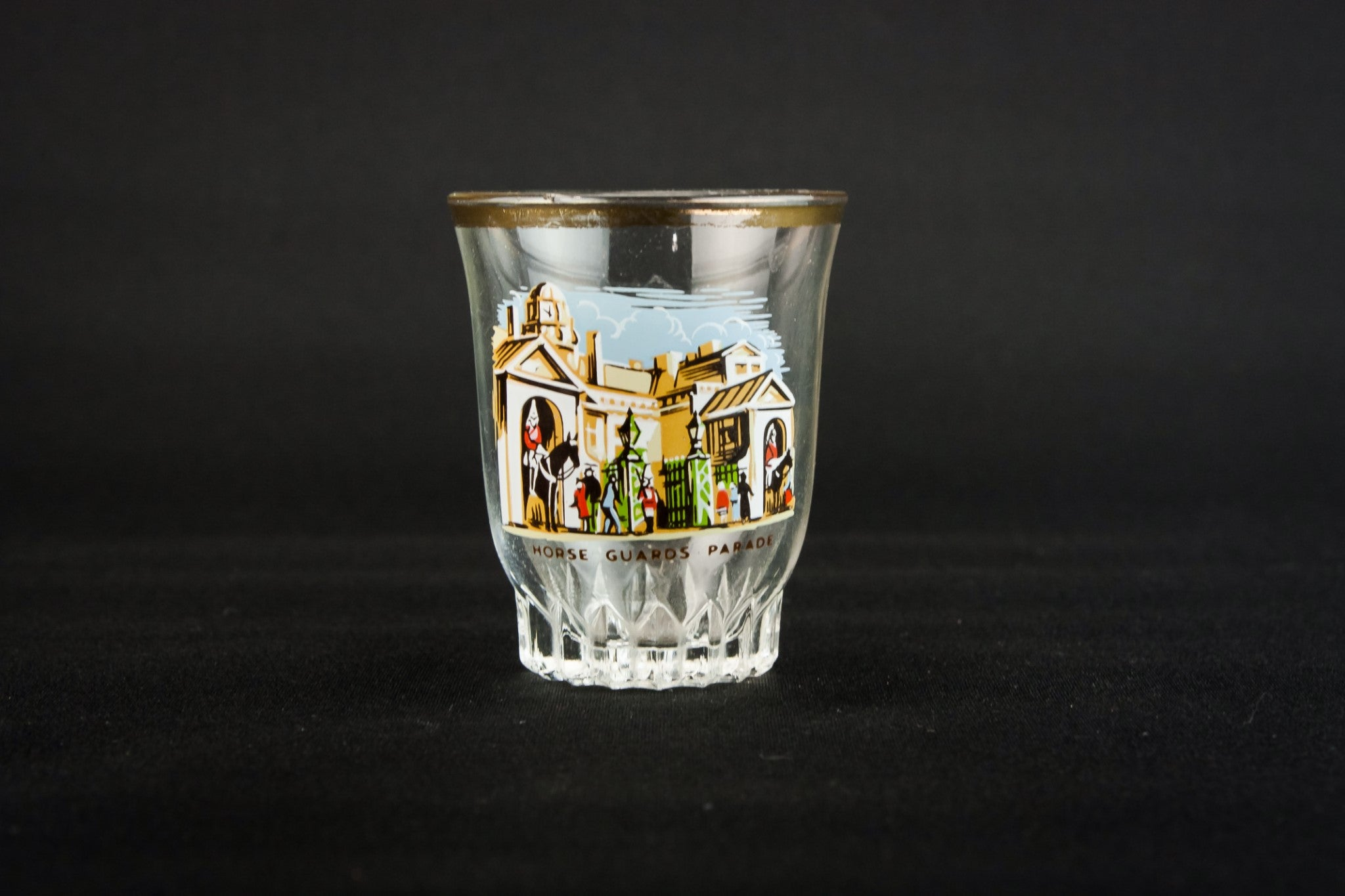 4 pressed shot glasses