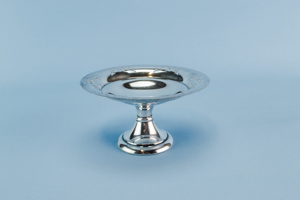 Silver plated stem bowl