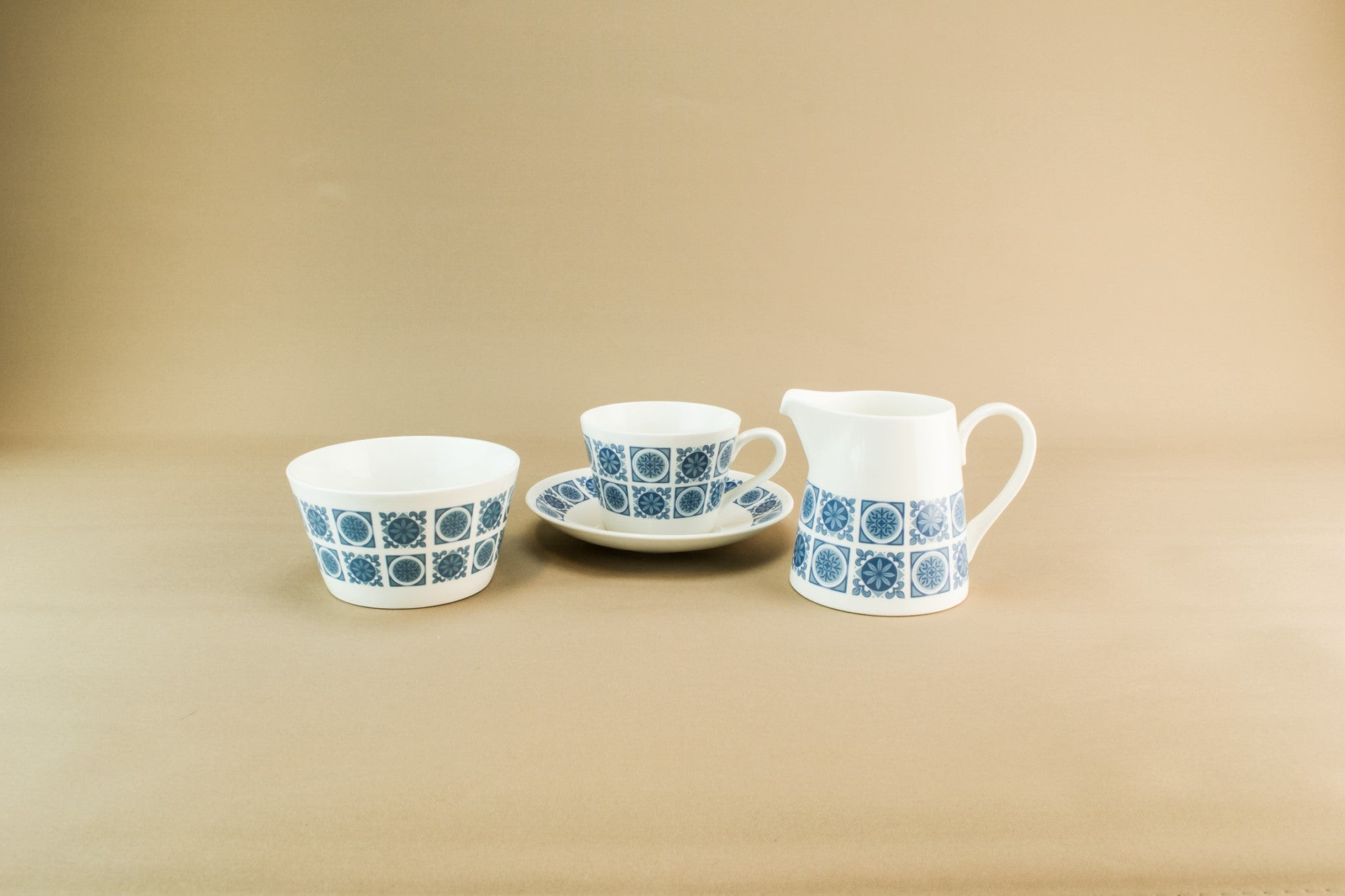 Bone china tea set for six