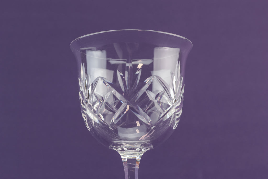 3 cut wine glasses