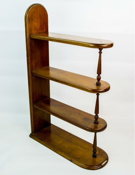 Mahogany shelving unit
