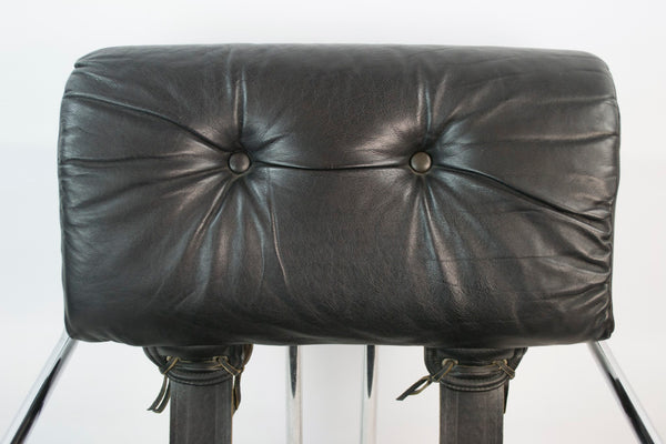 Modernist black armchair