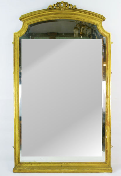 Large gilded wall mirror