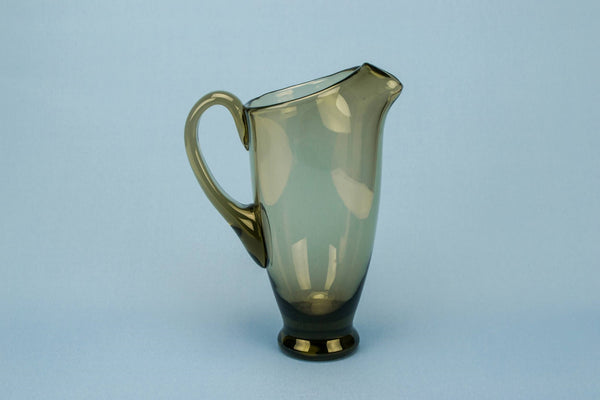 Smoky grey glass jug