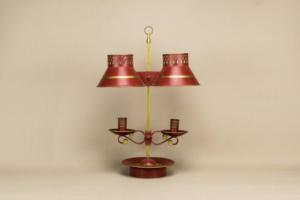 Red candelabra with shades
