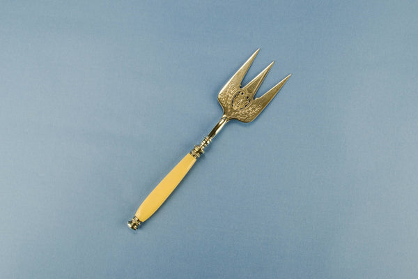 Silver plated bread fork