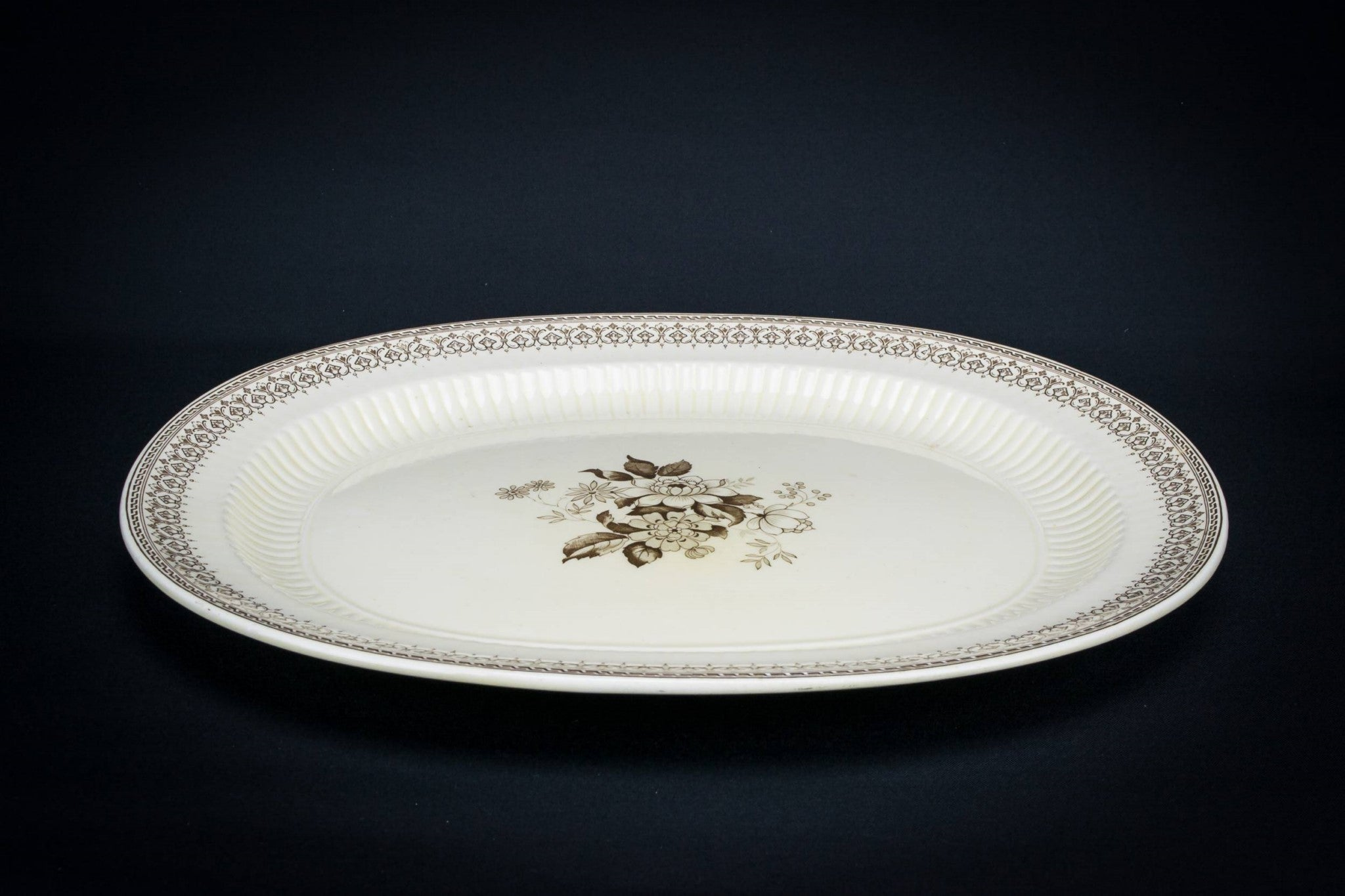 Large brown serving platter