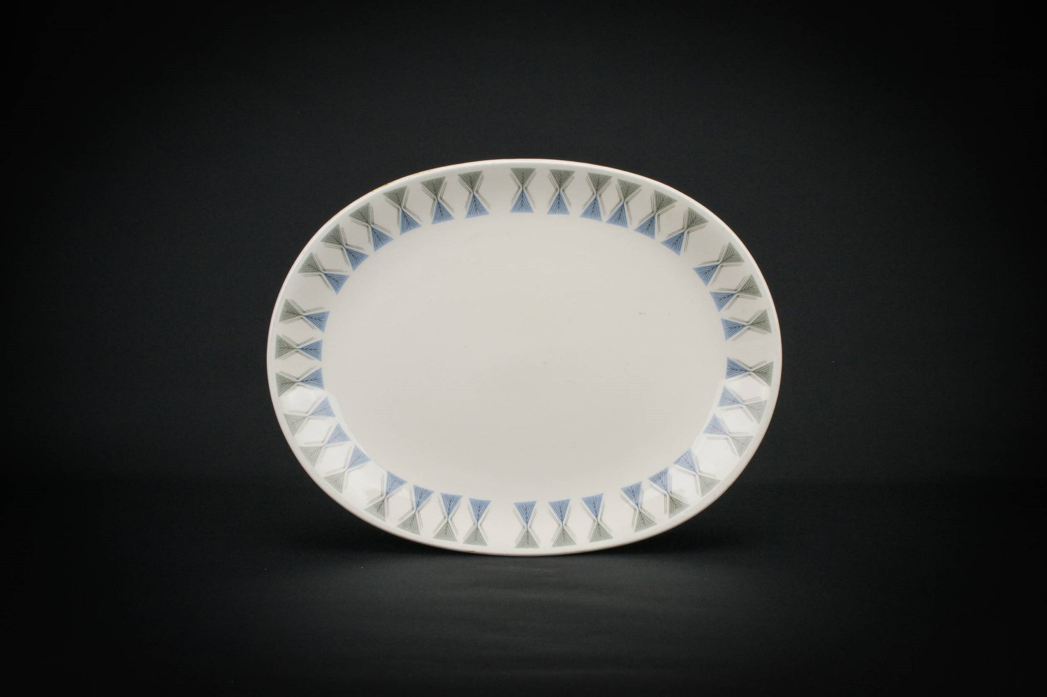 Pale blue serving platter