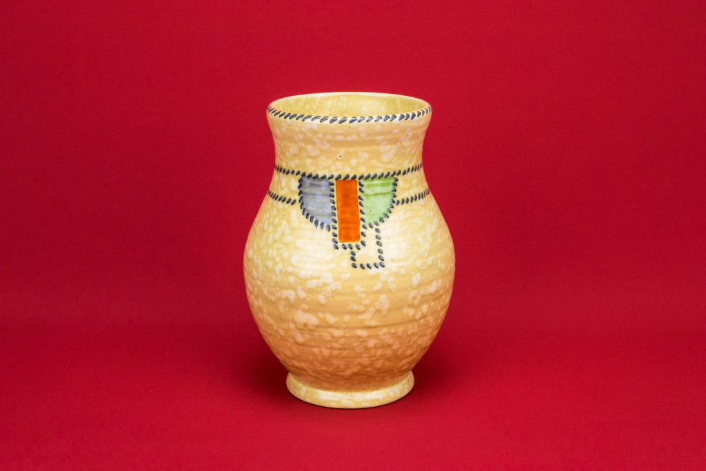 Art Deco large yellow vase