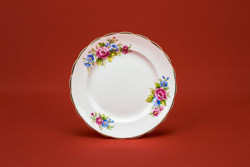 6 floral cake plates
