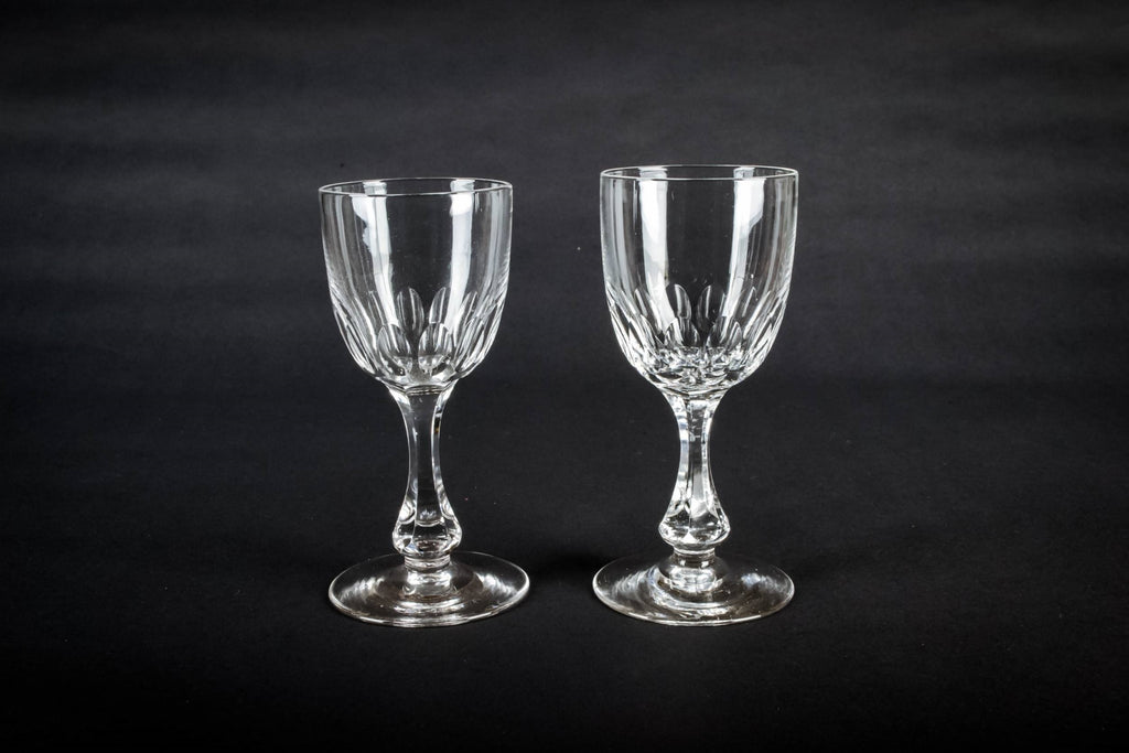 2 hexagonal port glasses