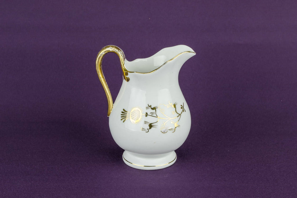 Gold thistle milk jug