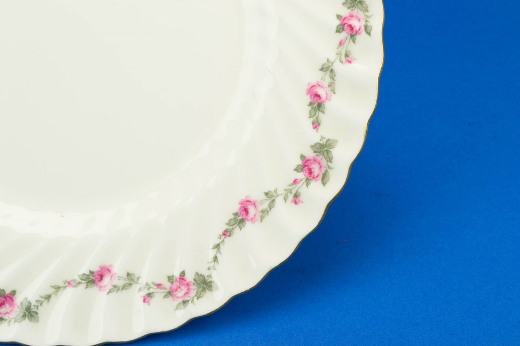 Mintons pink cake plate