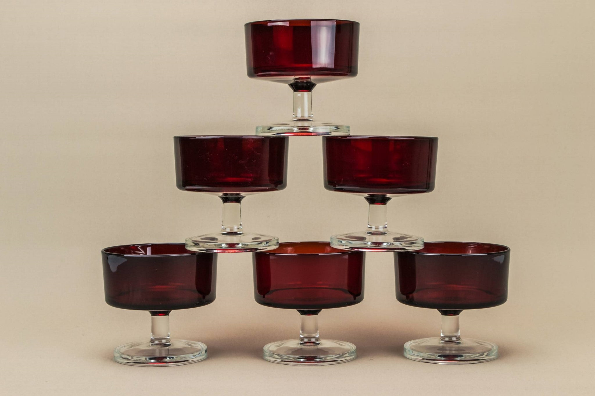 6 red wine glasses