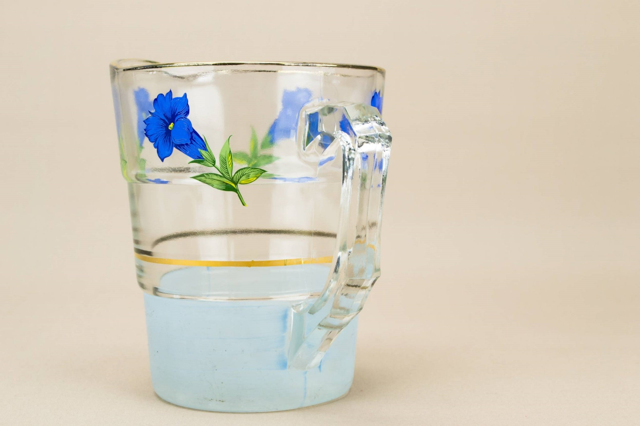 Blue floral water jug
